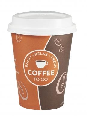 """50 Kaffeebecher 300ml - 12oz  """"RELAX"""""""
