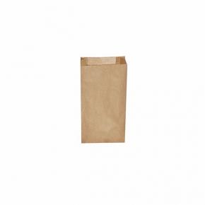 Papiertüten - Papier Faltenbeutel braun - 10+5 x 22cm - 0,5 Kg - 500 Stück