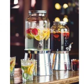 Getränkespender mit Zapfhahn und Ständer - 6 Liter