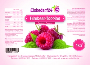 Himbeer Sauce - Eis Topping HM - 1 Kg